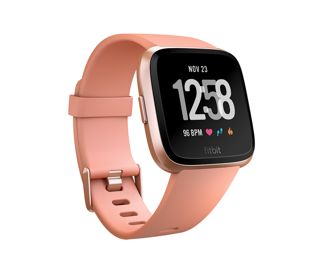 """<p><strong>fitbit</strong></p><p>fitbit.com</p><p><strong>$169.95</strong></p><p><a href=""""https://go.redirectingat.com?id=74968X1596630&url=https%3A%2F%2Fwww.fitbit.com%2Fshop%2Fversa%3Fcolor%3Dpeach&sref=http%3A%2F%2Fwww.runnersworld.com%2Fgear%2Fg28354973%2Ffitbit-summer-sale-2019%2F"""" target=""""_blank"""">Shop Now</a></p><p>This watch helps you live your best life with all-around tracking and handy on-screen workouts. It monitors sleep, heart rate , stairs climbed, and more. </p>"""