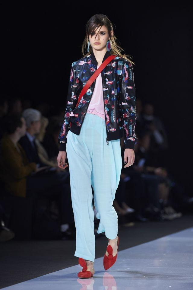 Emporio Armani brought a breezy lightness to the runway with a super-cool and highly feminine collection featuring plenty of pastel shades - Spring/Summer 2018 Collection - London