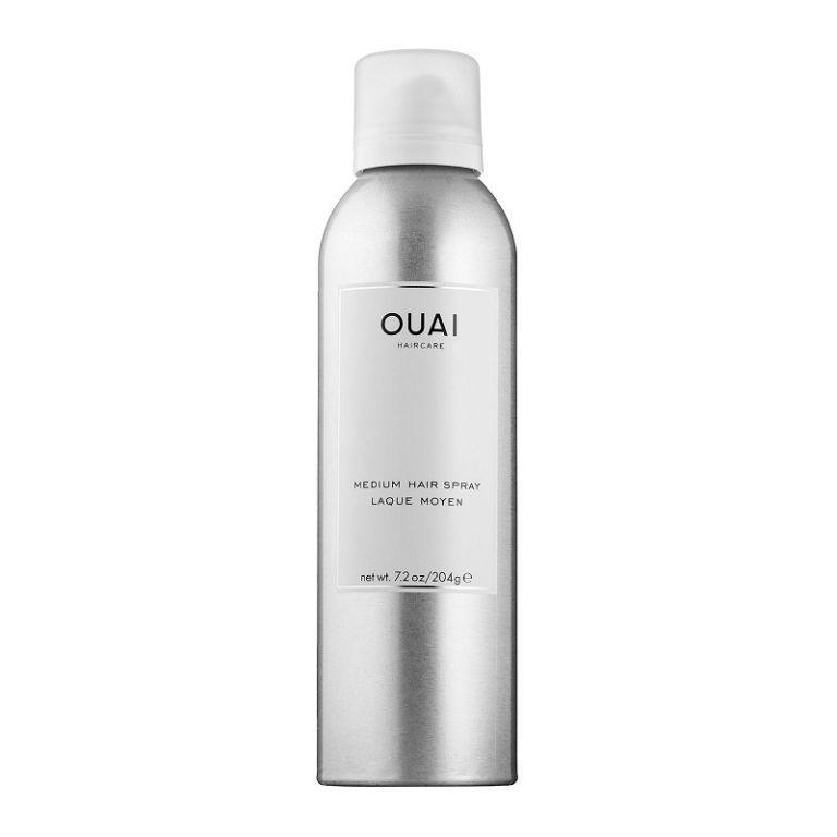 "<p>Spray this directly onto your hairbrush before pulling it through your lengths to banish the halo of unsightly frizz that always tends to crop up in humid weather. P.S. It smells like lemons and roses so you can spritz to your heart's content and it won't leave you coughing and spluttering. <br></p><p><a href=""https://www.cultbeauty.co.uk/ouai-haircare-medium-hairspray.html"" rel=""nofollow noopener"" target=""_blank"" data-ylk=""slk:Cult Beauty"" class=""link rapid-noclick-resp"">Cult Beauty</a> - £22</p>"