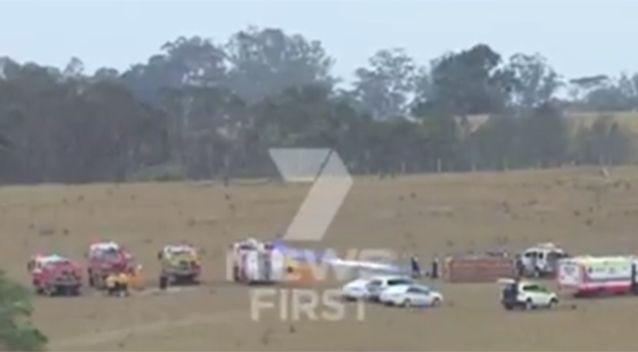 At least six people are injured. Source: Channel 7