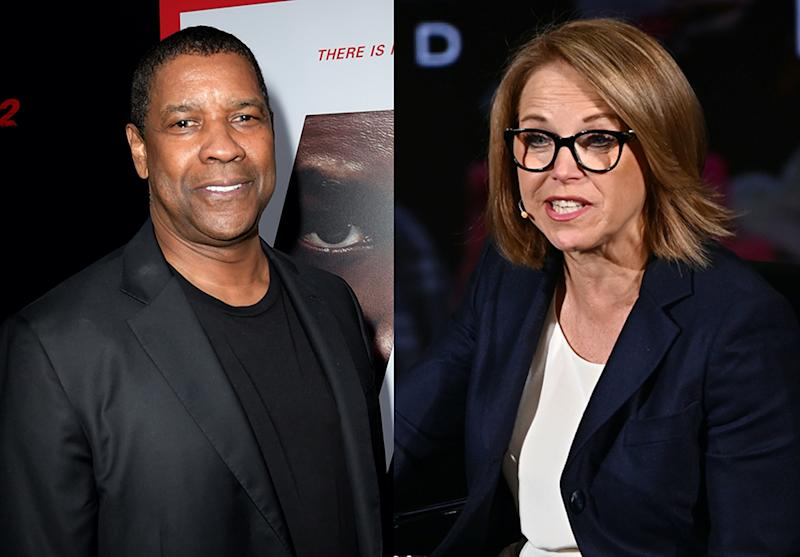 "Katie Couric remembers tense exchange with Denzel Washington that was ""uncalled for."" (Photo: Getty Images)"