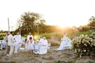 """""""That late afternoon glow as the sun sets over our friends as the reception starts,"""" Nicholas says. """"Anyone can tell you, the best part of a wedding is bringing together people who you love."""""""