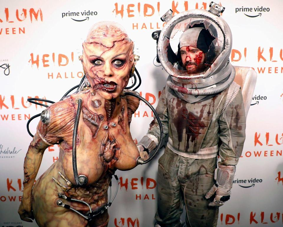 <p>The star terrified photographers on the red carpet alongside her husband Tom Kaulitz, who was dressed as an astronaut who appeared to have had a rather sketchy time in space. </p>