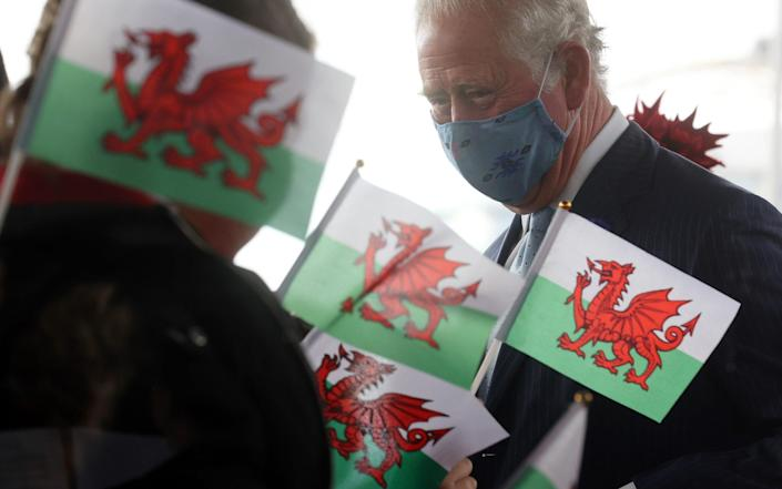 The Prince of Wales, wearing a face mask, arrives for the opening ceremony of the Senedd in Cardiff - Chris Jackson/Getty