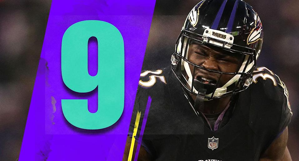 <p>The one issue the Ravens might have in the wild-card round is they won't have the element of surprise. The Chargers just saw this offense two weeks ago. (Gus Edwards) </p>