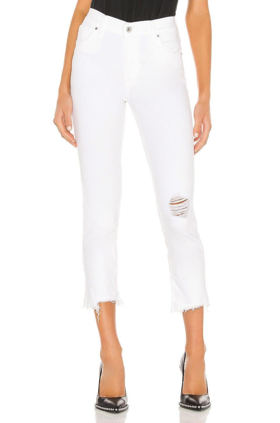 """<br> <br> <strong>Levi's</strong> LEVI'S 724 High Rise Straight Crop in Won Me Over, $, available at <a href=""""https://go.skimresources.com/?id=30283X879131&url=https%3A%2F%2Fwww.revolve.com%2Flevis-724-high-rise-straight-crop-in-won-me-over%2Fdp%2FLEIV-WJ156%2F"""" rel=""""nofollow noopener"""" target=""""_blank"""" data-ylk=""""slk:Revolve"""" class=""""link rapid-noclick-resp"""">Revolve</a>"""