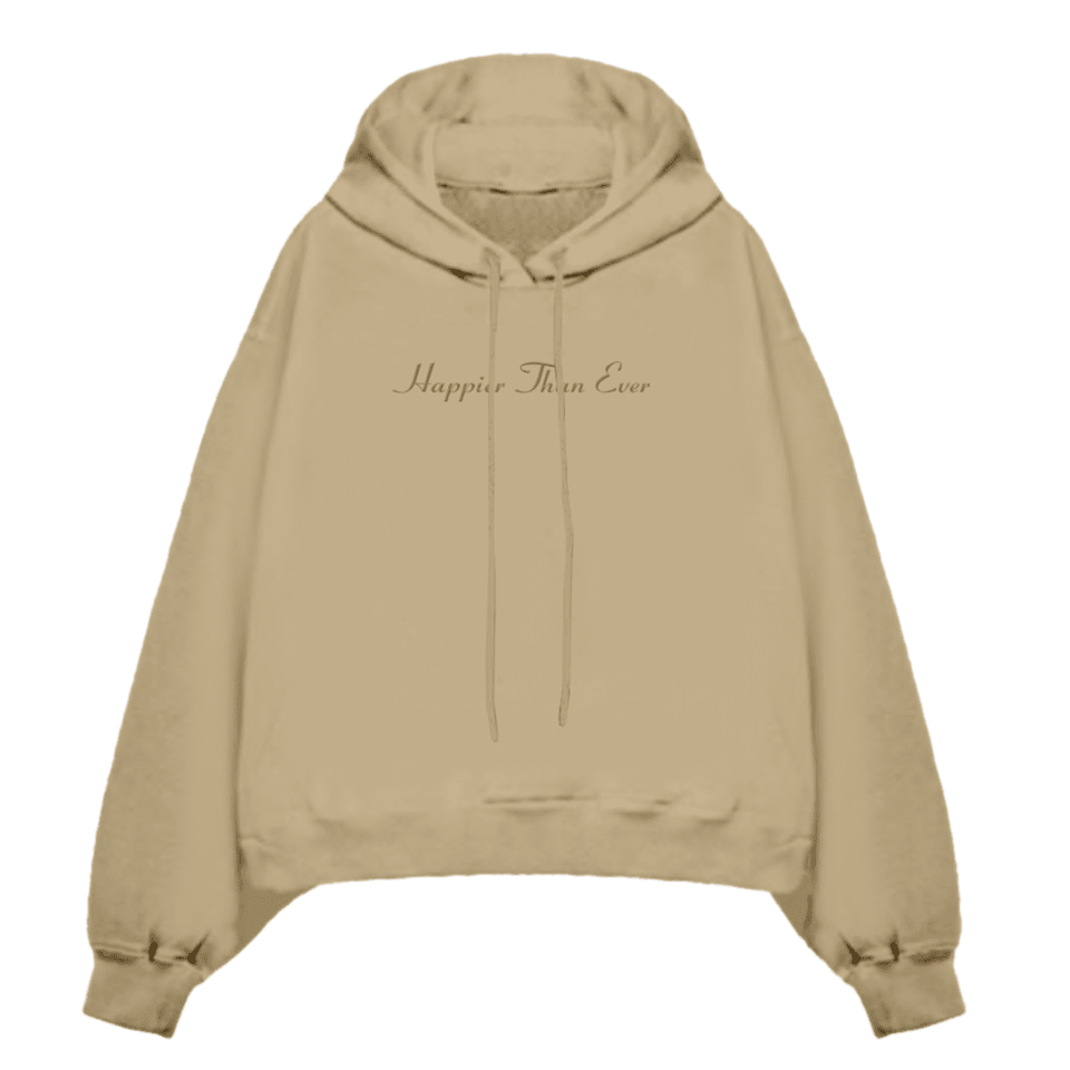 <p><span>Billie Eilish Happier Than Ever Hooded Sweatshirt</span> ($120)</p>