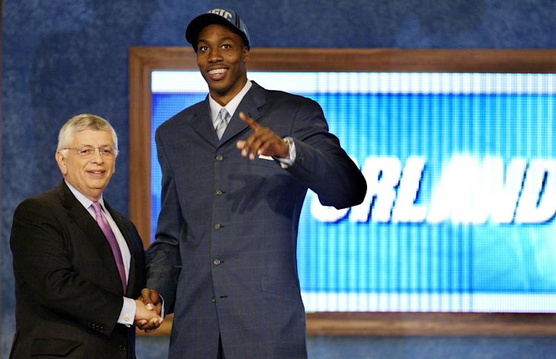 Dwight Howard is someone else's prize if the Orlando Magic are a super-team in the early 2000s. (Reuters/Ray Stubblebine RFS)