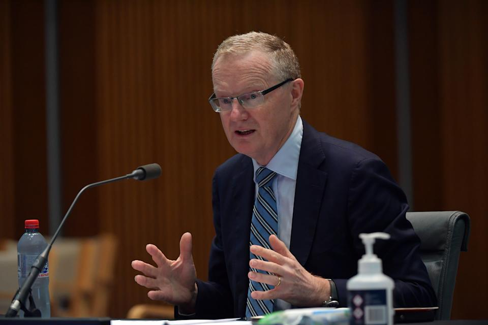 CANBERRA, AUSTRALIA - FEBRUARY 05: Reserve Bank Governor Philip Lowe at the Standing Committee on Economics at Parliament House on February 05, 2021 in Canberra, Australia. In an address to the National Press Club earlier this week, Reserve Bank of Australia governor Philip Lowe indicated being in favour of a permanent rise in the dole, declaring it an issue of fairness while revealing the economy could need record low interest rates until the middle of the decade. (Photo by Sam Mooy/Getty Images)