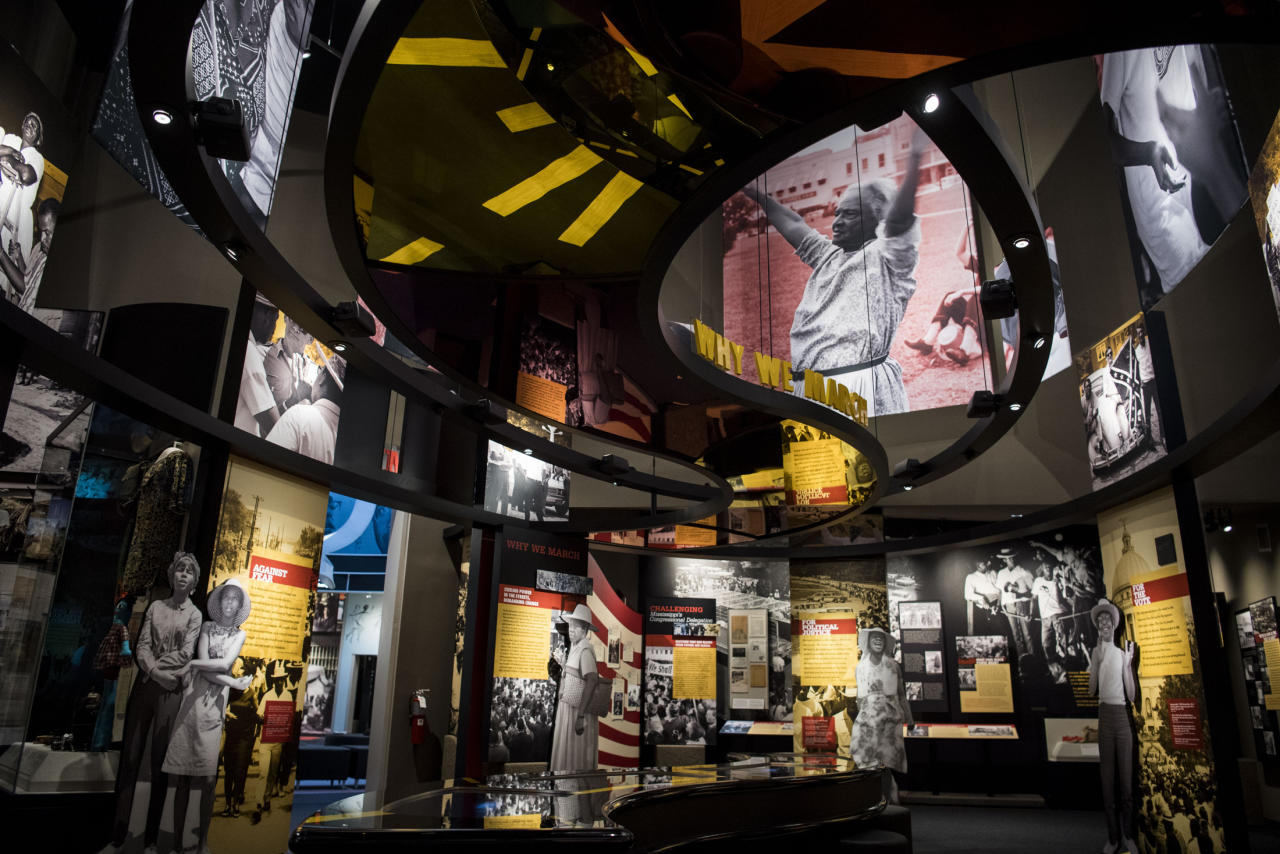<p>The Black Empowerment exhibit at the Mississippi Civil Rights Museum in Jackson, Miss., on Dec. 7, 2017. (Photo: Carolyn Van Houten/The Washington Post/Getty Images) </p>