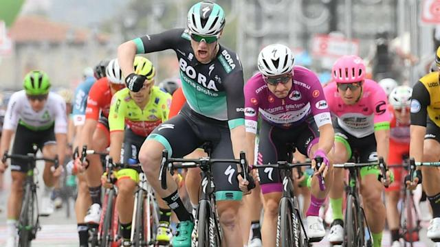 The seventh stage of the Giro d'Italia provided a dramatic climax as Sam Bennett took the honours.
