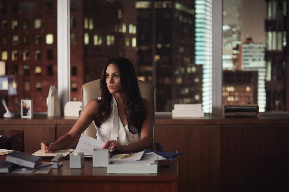 Meghan plays Rachel Zane in Suits. Copyright: [USA Network]