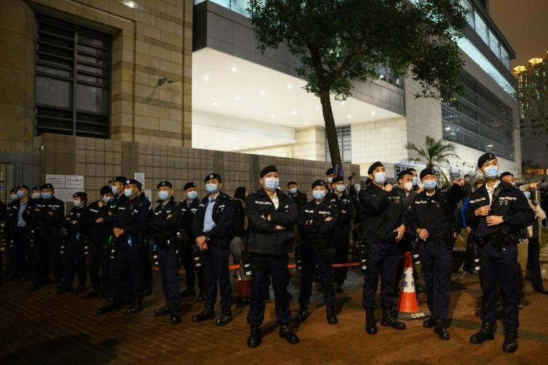 Dozens of Hong Kong democracy campaigners were jailed a day ahead of the opening of parliament