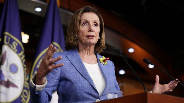 PHOTO: Speaker of the House Nancy Pelosi (D-CA) holds her weekly press conference at the U.S. Capitol Visitors Center July 26, 2019 in Washington, DC. (Chip Somodevilla/Getty Images)