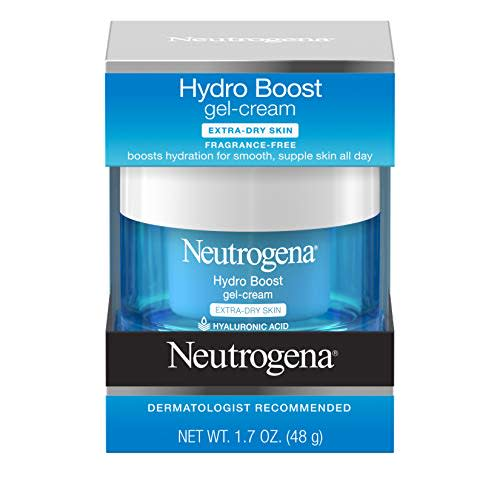 """<p><strong>Neutrogena</strong></p><p>amazon.com</p><p><strong>$15.33</strong></p><p><a href=""""https://www.amazon.com/dp/B00NR1YQK4?tag=syn-yahoo-20&ascsubtag=%5Bartid%7C10070.g.3239%5Bsrc%7Cyahoo-us"""" rel=""""nofollow noopener"""" target=""""_blank"""" data-ylk=""""slk:Shop Now"""" class=""""link rapid-noclick-resp"""">Shop Now</a></p><p>This deeply hydrating face moisturizer will bring her skin back to life back after extra dry flights.</p>"""