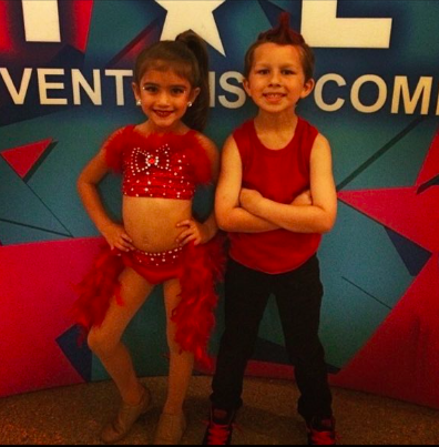 The dancing duo at a competition together. (Photo: Glen Meynardie)