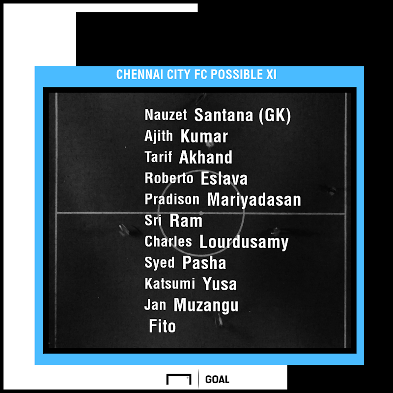 Chennai City FC possible XI