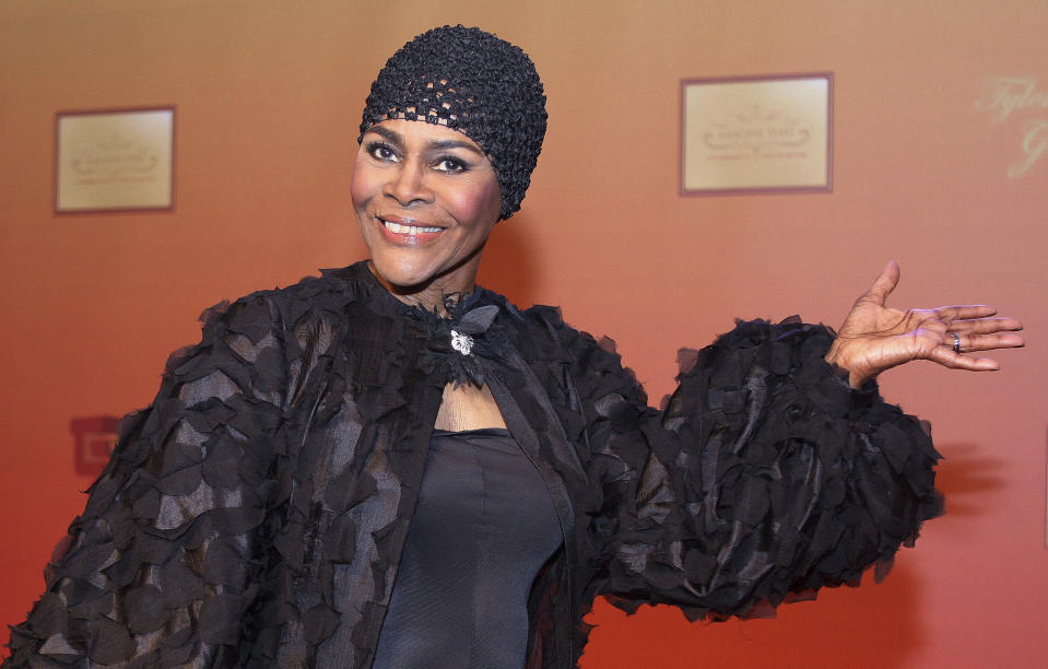 "FILE - Actress Cicely Tyson arrives at the unveiling of director and producer Tyler Perry's new motion picture and television studio in Atlanta on Oct. 4, 2008. Tyson, the pioneering Black actress who gained an Oscar nomination for her role as the sharecropper's wife in ""Sounder,"" a Tony Award in 2013 at age 88 and touched TV viewers' hearts in ""The Autobiography of Miss Jane Pittman,"" has died. She was 96. Tyson's death was announced by her family, via her manager Larry Thompson, who did not immediately provide additional details. (AP Photo/W.A.Harewood, File)"