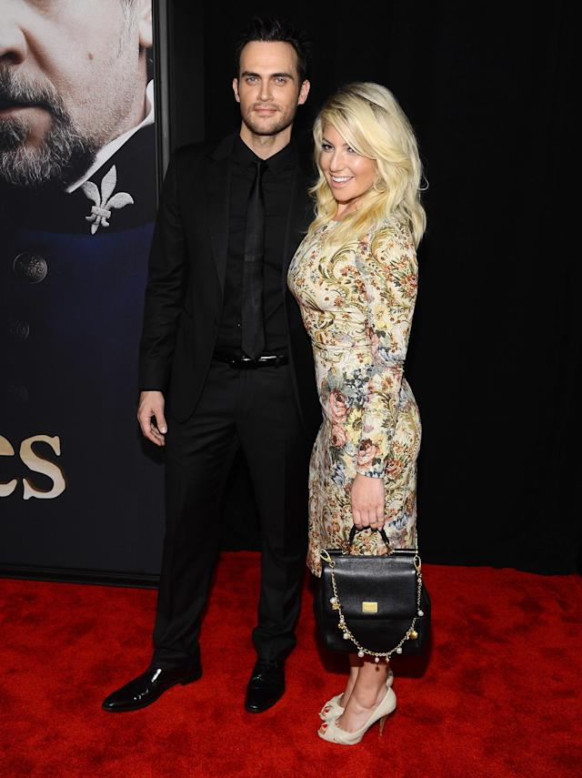"NEW YORK, NY - DECEMBER 10: Cheyenne Jackson and Ari Graynor attend the ""Les Miserables"" New York premiere at Ziegfeld Theatre on December 10, 2012 in New York City. (Photo by Larry Busacca/Getty Images)"