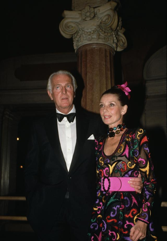 <p>Givenchy and Hepburn in 1987. (Photo: Peter Turnley/Corbis/VCG via Getty Images) </p>