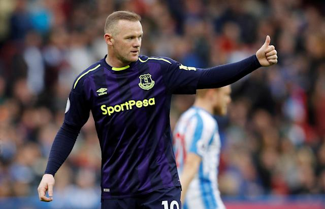 "FILE PHOTO: Soccer Football - Premier League - Huddersfield Town v Everton - John Smith's Stadium, Huddersfield, Britain - April 28, 2018 Everton's Wayne Rooney REUTERS/Darren Staples/File Photo EDITORIAL USE ONLY. No use with unauthorized audio, video, data, fixture lists, club/league logos or ""live"" services. Online in-match use limited to 75 images, no video emulation. No use in betting, games or single club/league/player publications. Please contact your account representative for further details. - RC1B2B12E830"