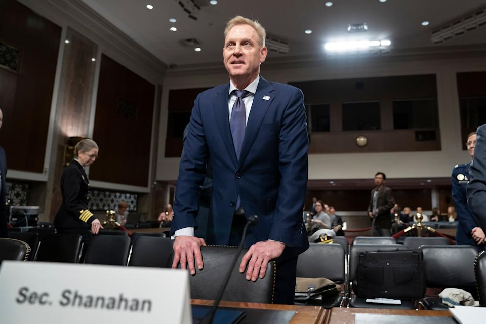 Acting Defense Secretary Patrick Shanahan goes before the Senate Armed Services Committee to discuss the Department of Defense budget, on Capitol Hill in Washington, Thursday, March 14, 2019.   (Photo: J. Scott Applewhite/AP)