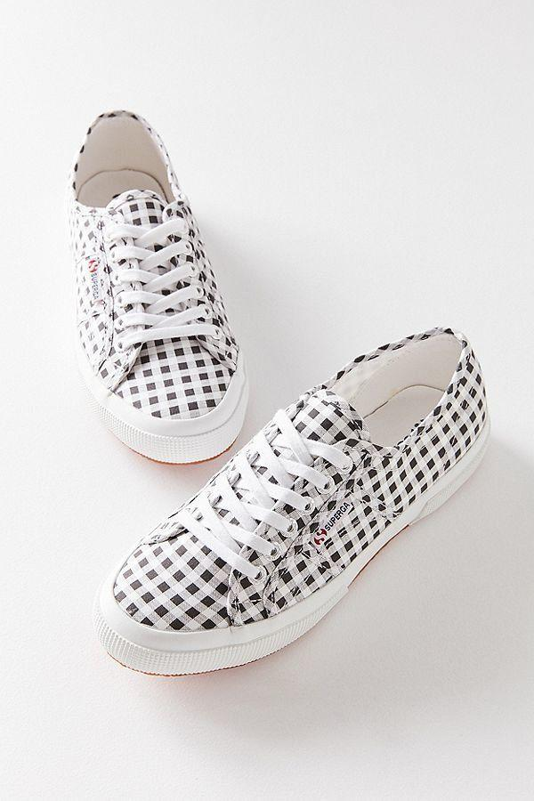 "Get them at <a href=""https://www.urbanoutfitters.com/shop/superga-2750-gingham-sneaker?category=womens-sneakers&color=001"" target=""_blank"">Urban Outfitters</a>, $85."