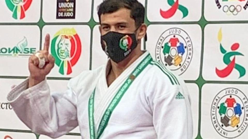 Pictured here, Algerian judoka Fethi Nourine has been banned for 10 years.