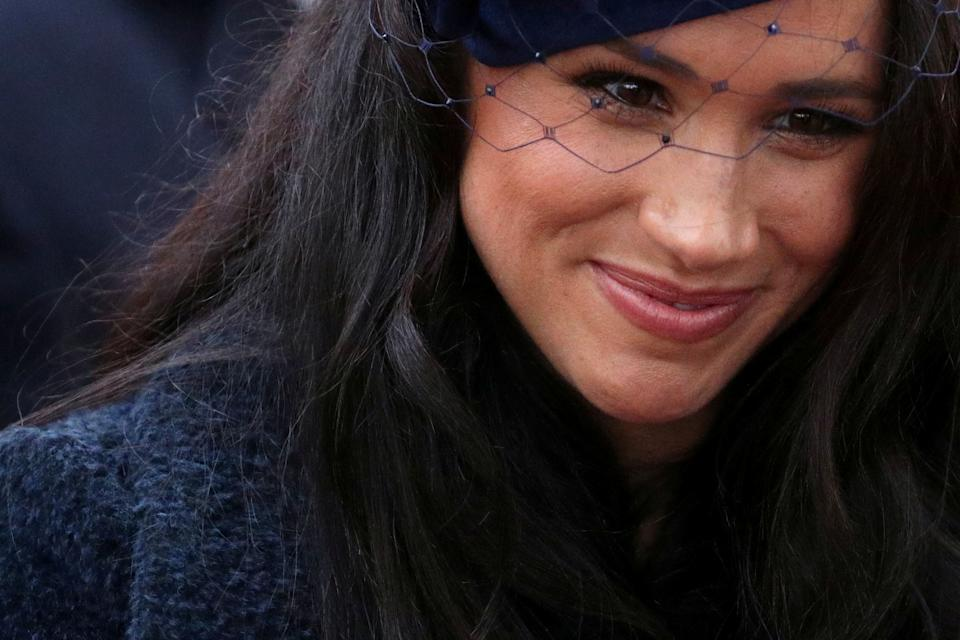 FILE PHOTO: Meghan, Duchess of Sussex, is seen during a visit to the Field of Remembrance at Westminster Abbey in London, Britain, November 7, 2019. REUTERS/Hannah McKay/File Photo