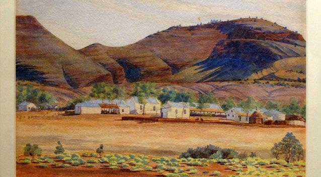 Albert Namatjira is best known for his watercolour paintings of the outback. Photo: AAP