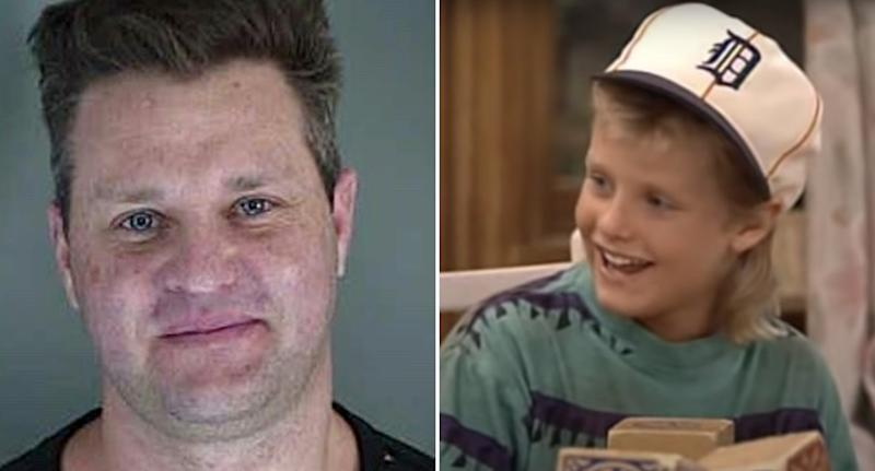 Zachery Ty Bryan is pictured in a mugshot and in an episode of Home Improvement.
