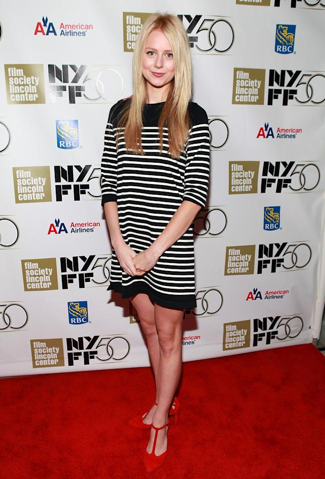 """NEW YORK, NY - SEPTEMBER 30:  Justine Lupe attends the """"Frances HA"""" - Gala Presentation - 50th New York Film Festival at Alice Tully Hall on September 30, 2012 in New York City.  (Photo by Robin Marchant/Getty Images)"""