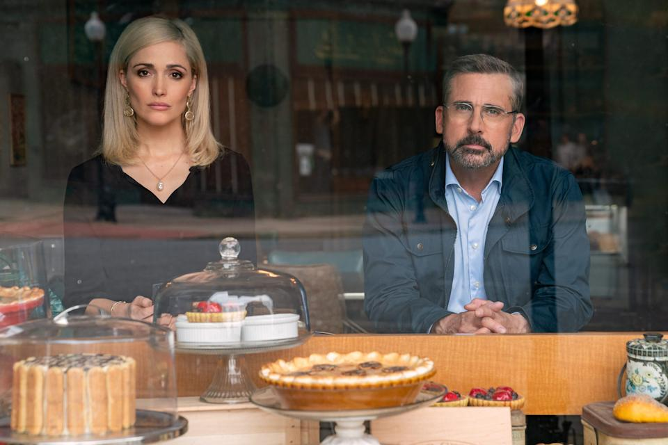 """Rose Byrne stars as Faith Brewster, the right-wing rival to Steve Carell's liberal strategist, in """"Irresistible."""""""