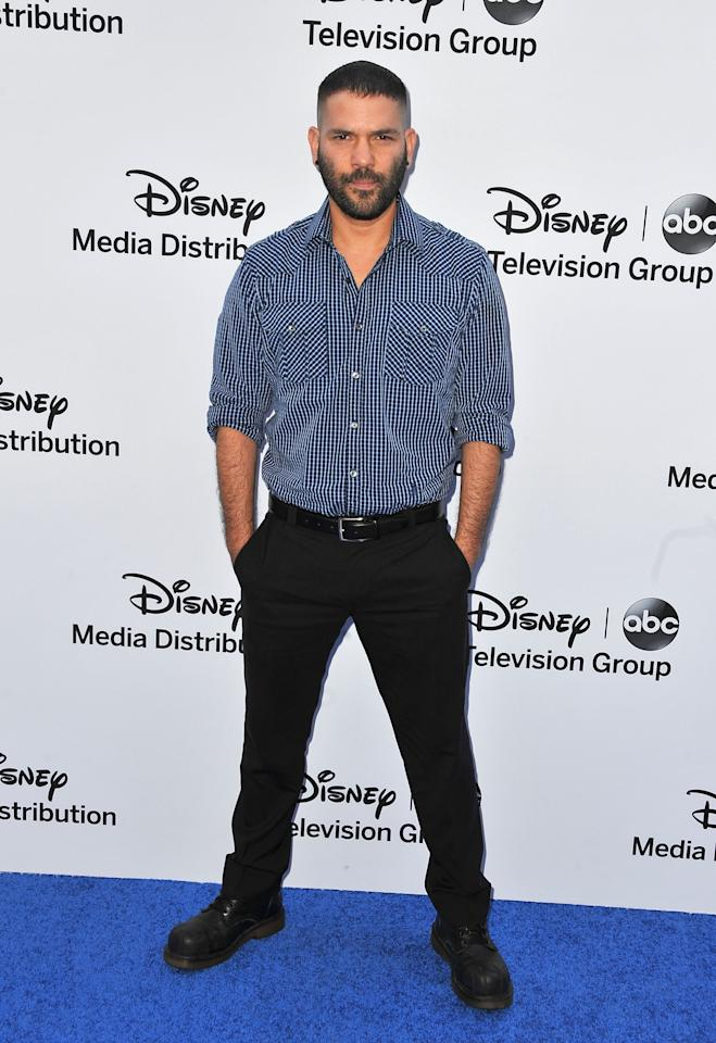BURBANK, CA - MAY 19:  Actor Guillermo Diaz arrives at the Disney Media Networks International Upfronts at Walt Disney Studios on May 19, 2013 in Burbank, California.  (Photo by Angela Weiss/Getty Images)
