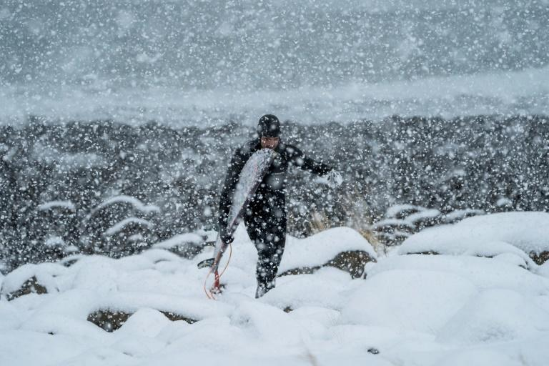 In Norway's northern islands within the Arctic Circle air temperature plunges to minus four degrees Celsius