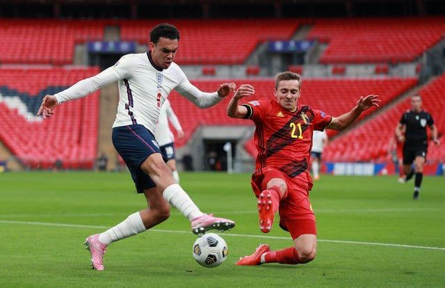 Trent Alexander-Arnold (left) is not out of Gareth Southgate's plans