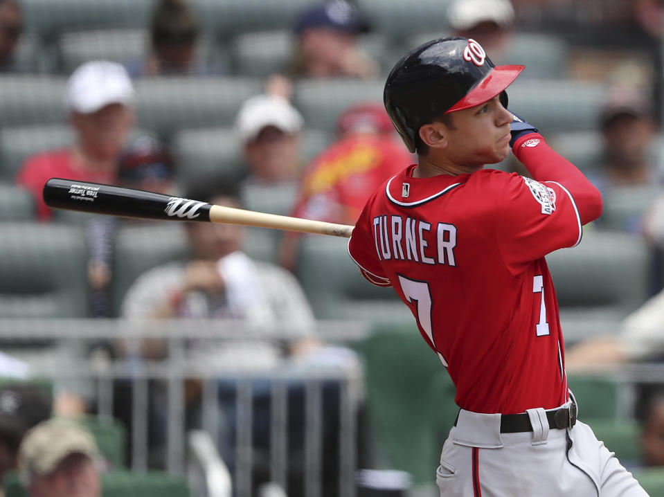 Trea Turner would have made this list even before his career performance on Thursday night. (AP)
