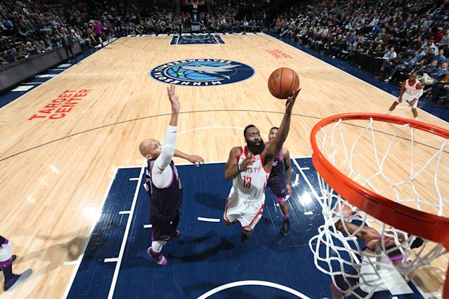 Everyone knows what James Harden is going to do and he does it anyway. (Getty Images)