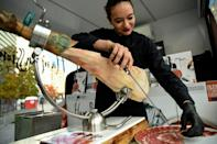 Ham and other meats are a staple of the Spanish diet