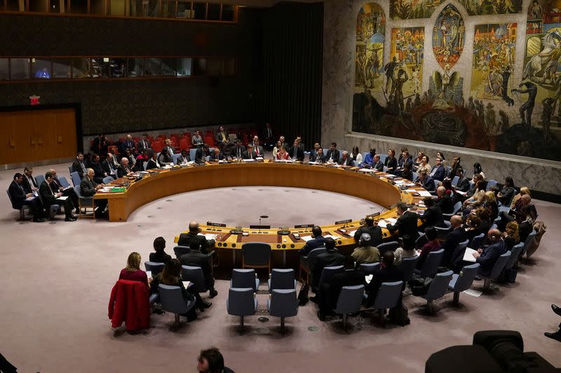 UN Security Council meets about situation in Syria at UN Headquarters in New York City