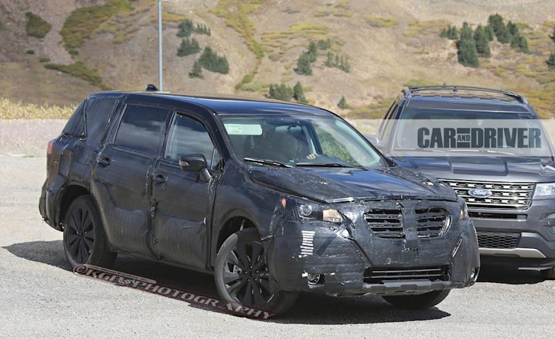 2018 subaru ascent spied boxer power with three rows. Black Bedroom Furniture Sets. Home Design Ideas