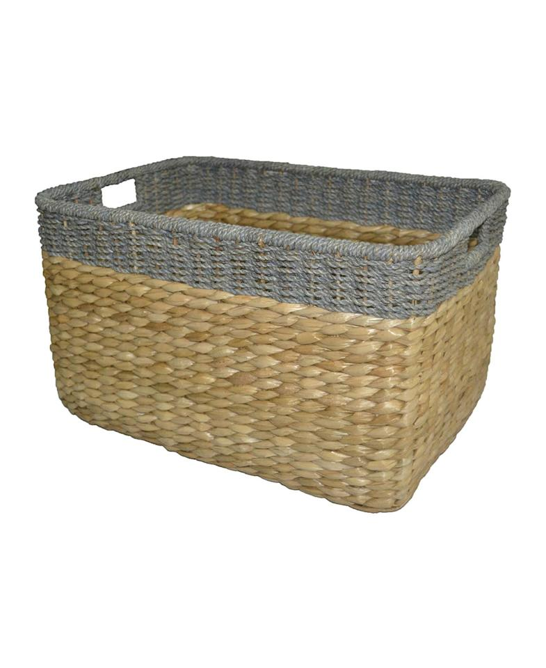 """<p><strong>Seagrass Extra Large Storage Basket</strong><br /> The Home Edit team loves this large seagrass basket for stashing everything from toys to throw blankets. Buy a few and task each one with storing a different entryway essential.<br /><strong>To buy:</strong> $40; <a href=""""http://goto.target.com/c/249354/81938/2092?subId1=RS%2CProOrganizersShareTheirTopDeclutteringTips%2Cdarganb%2CORG%2CGAL%2C535828%2C201803%2CI&u=https%3A%2F%2Fwww.target.com%2Fp%2Fseagrass-extra-large-rectangle-storage-basket-gray-trim-threshold-153%2F-%2FA-50036315"""" target=""""_blank"""">target.com</a>.</p> <p><strong>Savannah Recycling Bin</strong><br /> The divided sections in this rolling seagrass bin were designed to sort glass, paper, and plastic, but they work just as well separating shoes, scarves, and umbrellas in the foyer.<br /><strong>To buy:</strong> $99; <a href=""""http://pottery-barn.7eer.net/c/249354/267848/4332?subId1=RSHOMEDeclutteringKHJune17&u=https%3A%2F%2Fwww.potterybarn.com%2Fproducts%2Fsavannah-recycling-basket-bin%2F"""" target=""""_blank"""">potterybarn.com</a>.</p> <p><strong>Aubrey Woven Lidded Basket</strong><br /> If you'd prefer to store your clutter out of sight, these lidded baskets will keep it concealed.<br /><strong>To buy:</strong> From $69; <a href=""""http://pottery-barn.7eer.net/c/249354/267848/4332?subId1=RSHOMEDeclutteringKHJune17&u=https%3A%2F%2Fwww.potterybarn.com%2Fproducts%2Faubrey-woven-lidded-basket%2F"""" target=""""_blank"""">potterybarn.com</a>.</p>"""