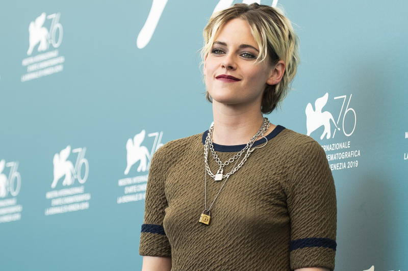 Kristen Stewart at the photo call for the film 'Seberg' at the 76th edition of the Venice Film Festival in Venice, Italy, Friday, Aug. 30, 2019. (Photo by Arthur Mola/Invision/AP)