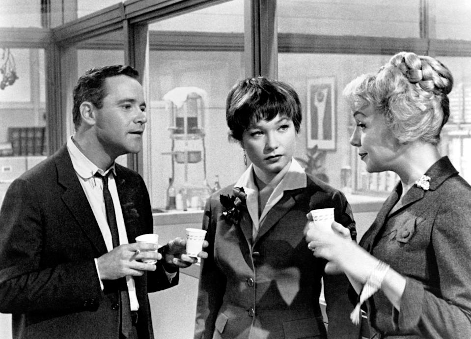 """<p>One of the best American films ever made, a quintessential romantic dramedy from the great Billy Wilder, a classic that still feels relevant starring Shirley Maclaine and Jack Lemmon in performances scientifically engineered to charm your pants off. Set in wintertime New York City, there's a scene at an office Christmas party, but the holiday is only there to serve the plot; it's New Year's Eve, with its promise of new beginnings, that ties the film together. Besides, a pivotal side character is an old-school Jewish doctor, which in my opinion balances out the Christmas of it all. I'm hesitant to reveal many plot details, since the revelation of these characters' connections is half the fun of this movie, but suffice it to say there's love, laughs, tears, and just a little bit of hijinkery.</p> <p><a href=""""https://www.amazon.com/Apartment-Jack-Lemmon/dp/B004AUFVU0"""" rel=""""nofollow noopener"""" target=""""_blank"""" data-ylk=""""slk:Available to rent on Amazon Prime Video"""" class=""""link rapid-noclick-resp""""><em>Available to rent on Amazon Prime Video</em></a></p>"""