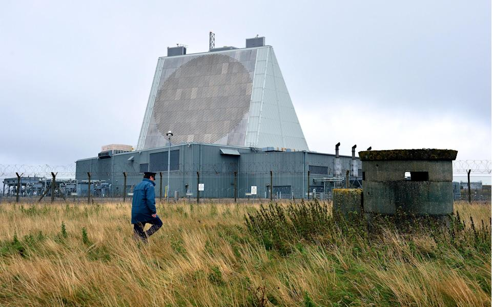 RAF Fylingdales, where the US already operates an early warning system to detect ballistic missiles in space (Owen Humphreys/PA) (PA Archive)