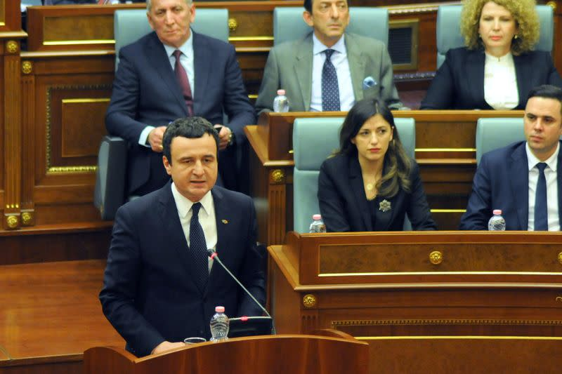 Kosovo approves new government, PM vows to be tough negotiator with Serbia
