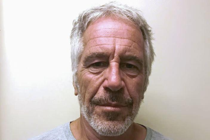 FILE PHOTO: Jeffrey Epstein appears in a photo taken for the NY Division of Criminal Justice Services' sex offender registry