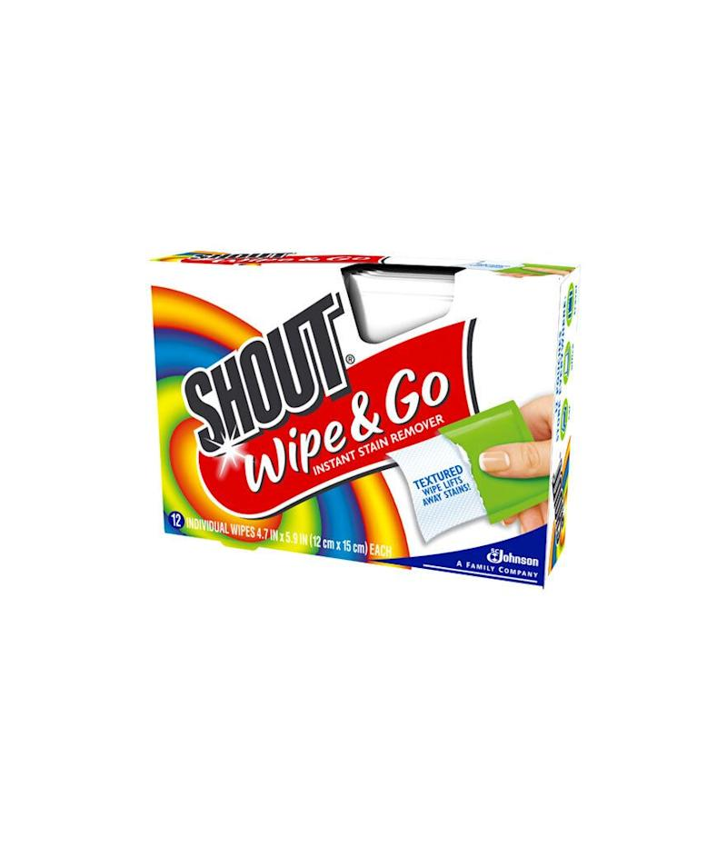 Shout Wipe and Go Wipes (12 Count - 3 Pack) (Photo: Walmart)
