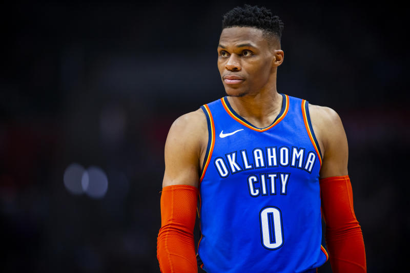41b55134e87 Russell Westbrook to fan at NBA game: 'I'll f--- you up, you and your wife'