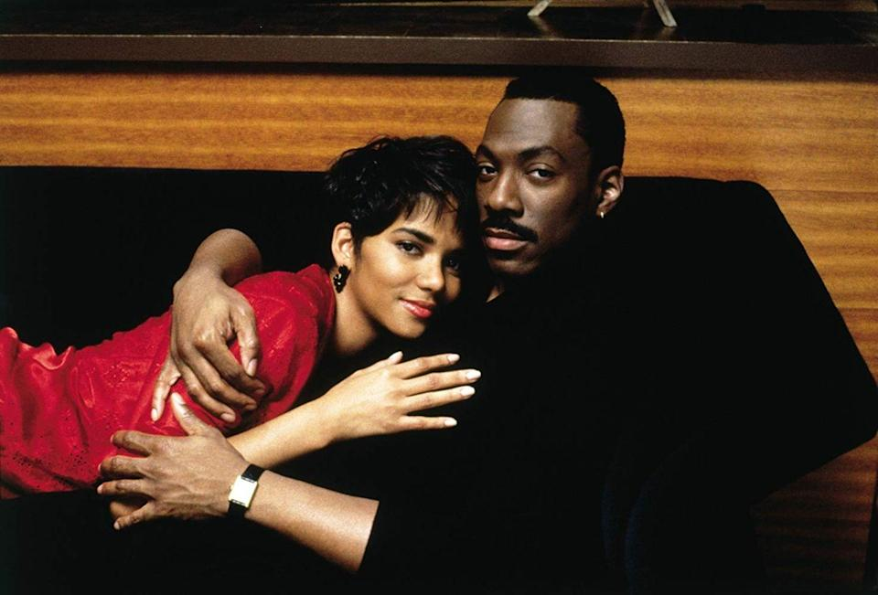 "<p><strong>Cast: </strong>Eddie Murphy, Halle Berry, Robin Givens<br></p><p>An womanizing ad executive finds himself falling for his new boss, who echoes his own cavalier ways. As she rejects his advances, he begins to fall in love with someone else.</p><p><a class=""link rapid-noclick-resp"" href=""https://www.amazon.com/gp/video/detail/B001B65I2M/ref=atv_dl_rdr?tag=syn-yahoo-20&ascsubtag=%5Bartid%7C10072.g.28122982%5Bsrc%7Cyahoo-us"" rel=""nofollow noopener"" target=""_blank"" data-ylk=""slk:Watch Now"">Watch Now</a></p>"